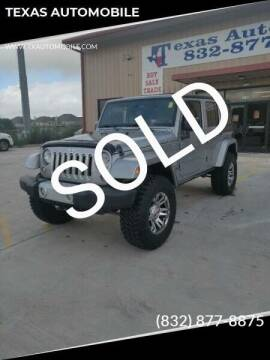 2014 Jeep Wrangler Unlimited for sale at TEXAS AUTOMOBILE in Houston TX