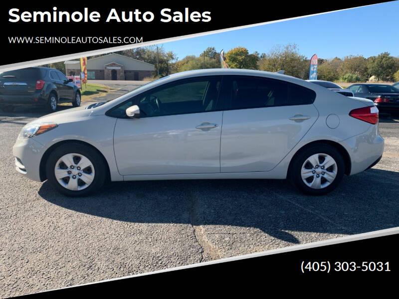 2015 Kia Forte for sale at Seminole Auto Sales in Seminole OK