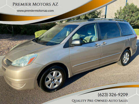 2004 Toyota Sienna for sale at Premier Motors AZ in Phoenix AZ