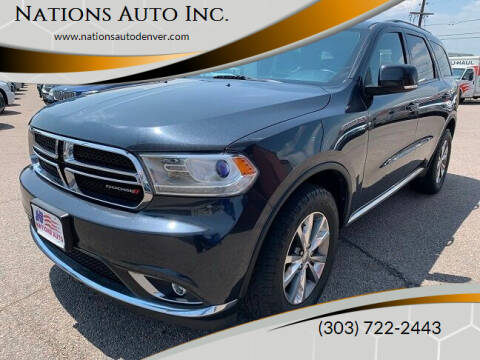 2014 Dodge Durango for sale at Nations Auto Inc. in Denver CO