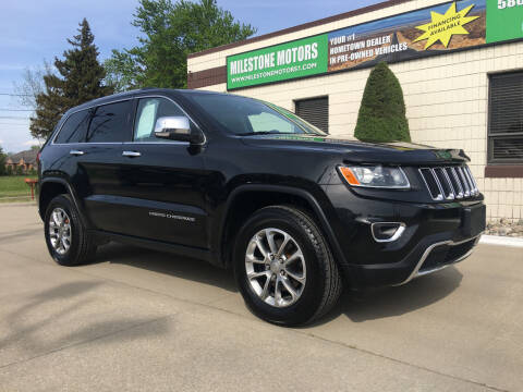 2015 Jeep Grand Cherokee for sale at MILESTONE MOTORS in Chesterfield MI