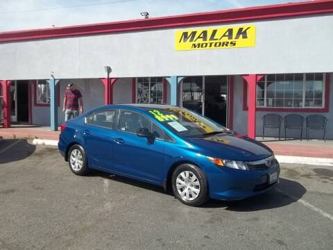 2012 Honda Civic for sale at Atayas Motors INC #1 in Sacramento CA