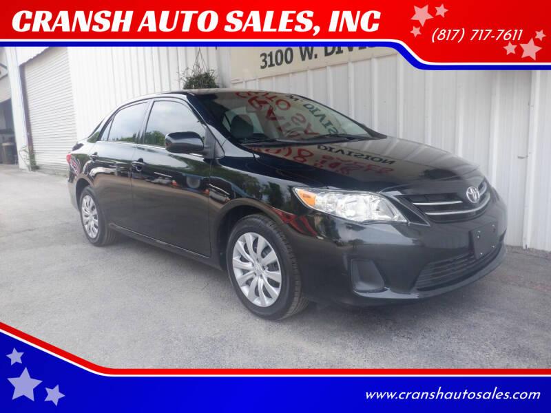 2013 Toyota Corolla for sale in Arlington, TX