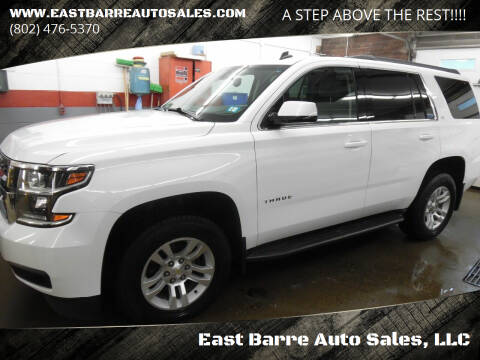 2015 Chevrolet Tahoe for sale at East Barre Auto Sales, LLC in East Barre VT