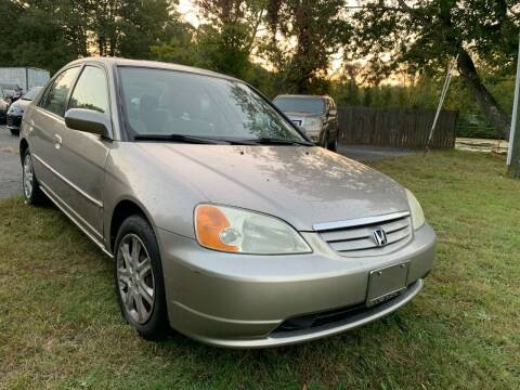 2003 Honda Civic for sale at D & M Discount Auto Sales in Stafford VA