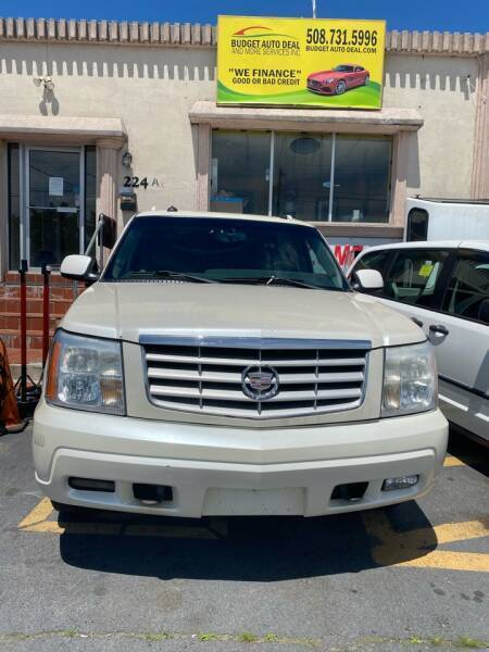 2003 Cadillac Escalade ESV for sale at Budget Auto Deal and More Services Inc in Worcester MA
