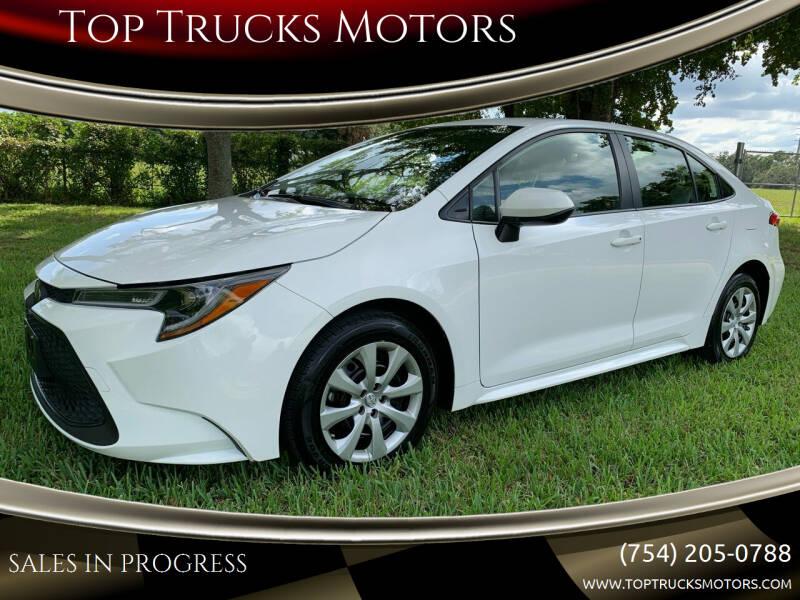 2020 Toyota Corolla for sale at Top Trucks Motors in Pompano Beach FL