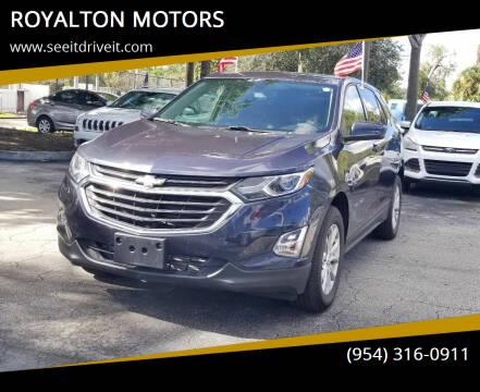 2018 Chevrolet Equinox for sale at ROYALTON MOTORS in Plantation FL