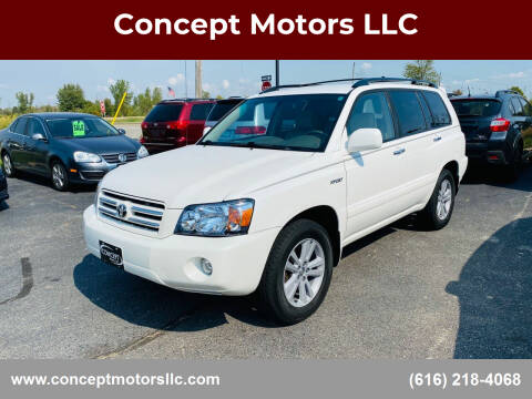 2006 Toyota Highlander for sale at Concept Motors LLC in Holland MI