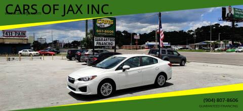 2017 Subaru Impreza for sale at CARS OF JAX INC. in Jacksonville FL