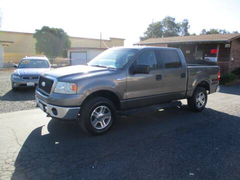 2007 Ford F-150 for sale at Manzanita Car Sales in Gridley CA
