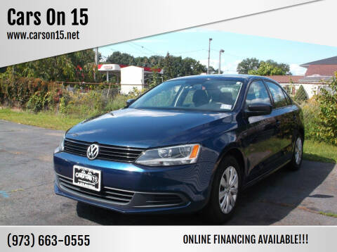 2014 Volkswagen Jetta for sale at Cars On 15 in Lake Hopatcong NJ