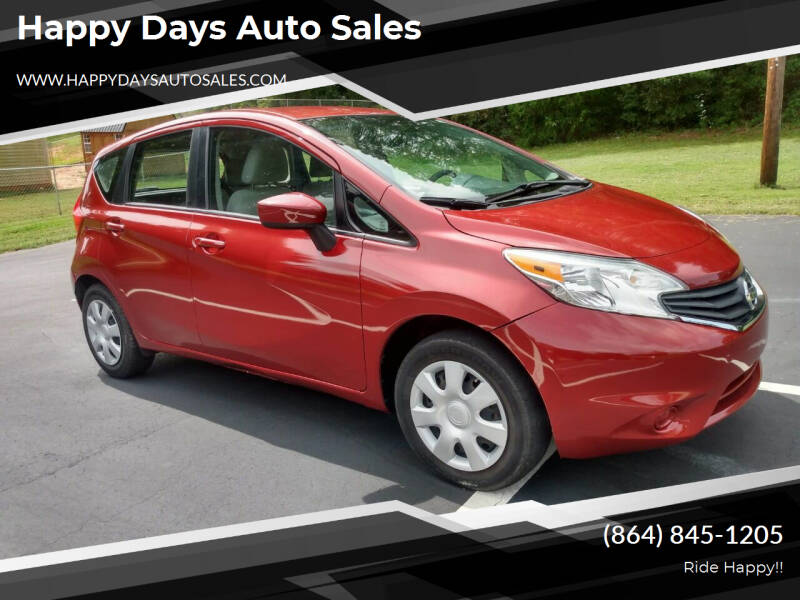 2016 Nissan Versa Note for sale at Happy Days Auto Sales in Piedmont SC