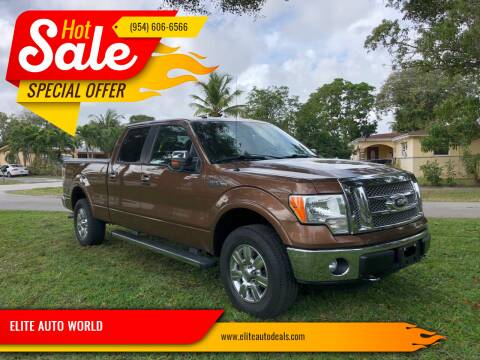 2012 Ford F-150 for sale at ELITE AUTO WORLD in Fort Lauderdale FL