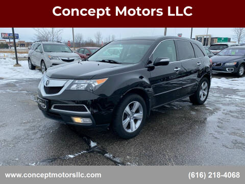 2012 Acura MDX for sale at Concept Motors LLC in Holland MI