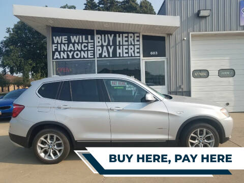 2013 BMW X3 for sale at STERLING MOTORS in Watertown SD