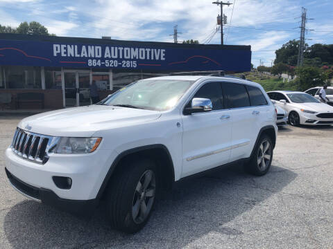 2013 Jeep Grand Cherokee for sale at Penland Automotive Group in Laurens SC