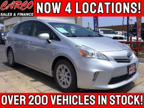 2012 Toyota Prius v for sale at CARCO SALES & FINANCE in Chula Vista CA