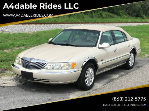 1999 Lincoln Continental for sale at A4dable Rides LLC in Haines City FL