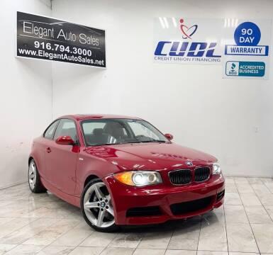 2008 BMW 1 Series for sale at Elegant Auto Sales in Rancho Cordova CA