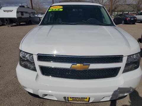 2012 Chevrolet Tahoe for sale at CHURCHILL AUTO SALES in Fallon NV