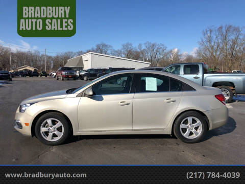 2016 Chevrolet Cruze Limited for sale at BRADBURY AUTO SALES in Gibson City IL