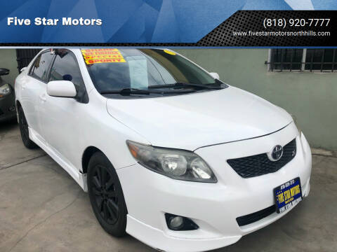2010 Toyota Corolla for sale at Five Star Motors in North Hills CA
