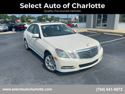 2013 Mercedes-Benz E-Class for sale at Select Auto of Charlotte in Matthews NC
