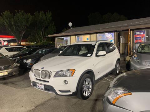 2013 BMW X3 for sale at Blue Eagle Motors in Fremont CA