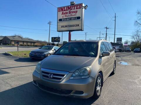 2006 Honda Odyssey for sale at Unlimited Auto Group in West Chester OH