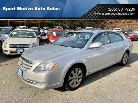 2006 Toyota Avalon for sale at Sport Motive Auto Sales in Seattle WA