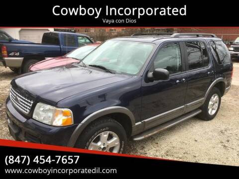 2003 Ford Explorer for sale at Cowboy Incorporated in Waukegan IL