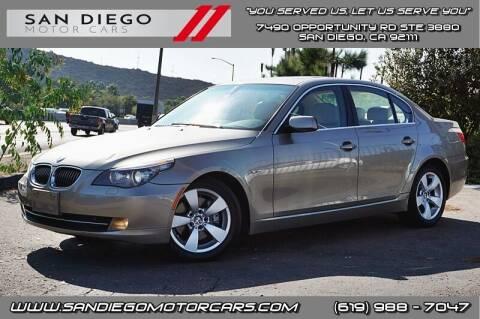 2008 BMW 5 Series for sale at San Diego Motor Cars LLC in San Diego CA