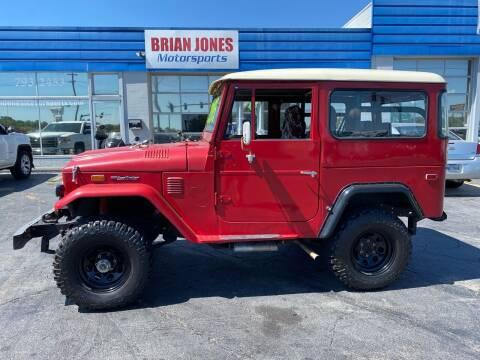 1974 Toyota Land Cruiser for sale at Brian Jones Motorsports Inc in Danville VA