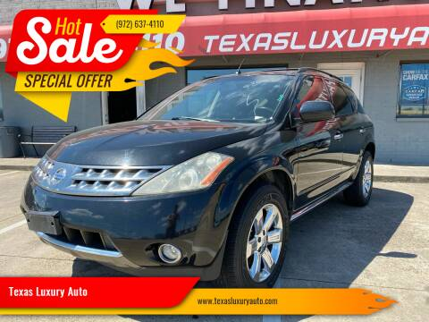 2007 Nissan Murano for sale at Texas Luxury Auto in Cedar Hill TX