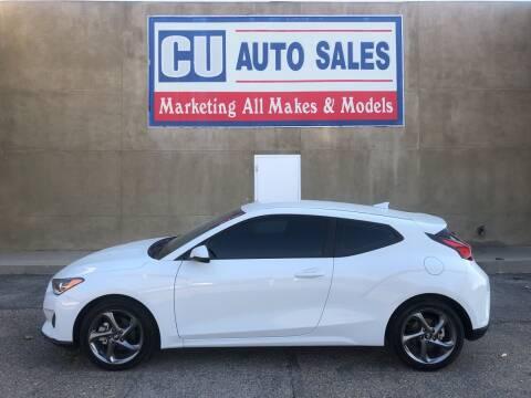 2019 Hyundai Veloster for sale at C U Auto Sales in Albuquerque NM