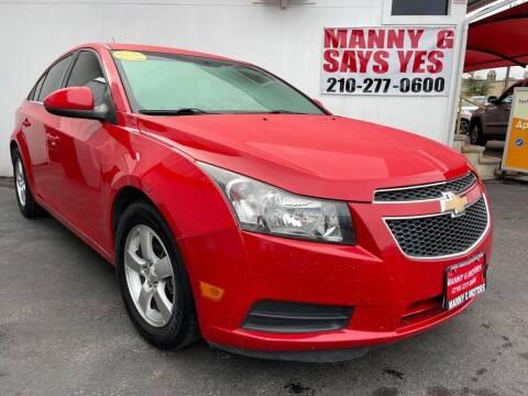 2014 Chevrolet Cruze for sale at Manny G Motors in San Antonio TX