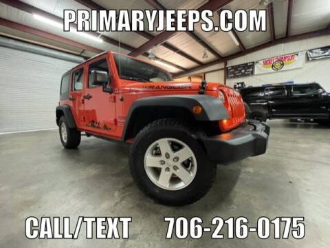 2015 Jeep Wrangler Unlimited for sale at Primary Auto Group in Dawsonville GA