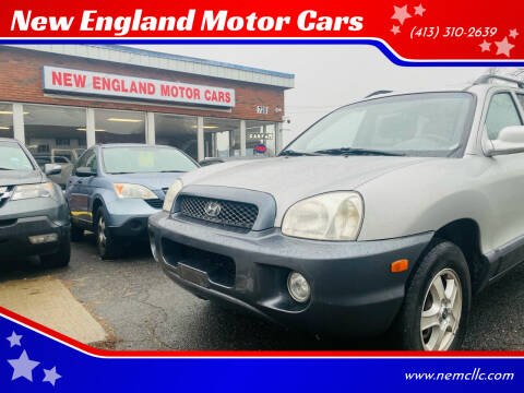 2003 Hyundai Santa Fe for sale at New England Motor Cars in Springfield MA