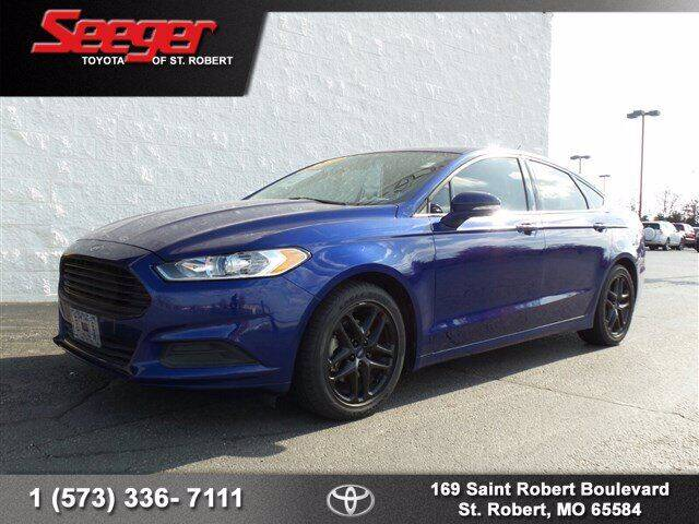 2016 Ford Fusion for sale at SEEGER TOYOTA OF ST ROBERT in St Robert MO
