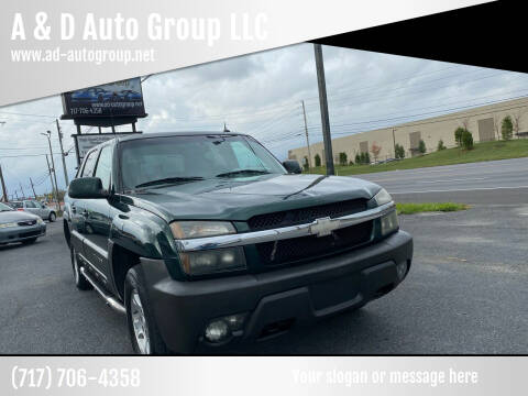 2004 Chevrolet Avalanche for sale at A & D Auto Group LLC in Carlisle PA
