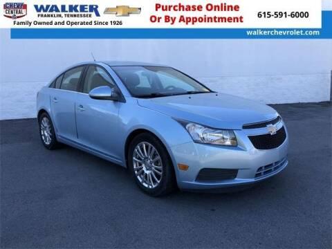 2012 Chevrolet Cruze for sale at WALKER CHEVROLET in Franklin TN