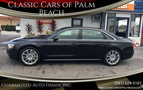 2014 Audi A8 L for sale at Classic Cars of Palm Beach in Jupiter FL