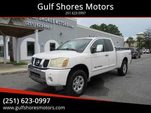 2005 Nissan Titan for sale at Gulf Shores Motors in Gulf Shores AL
