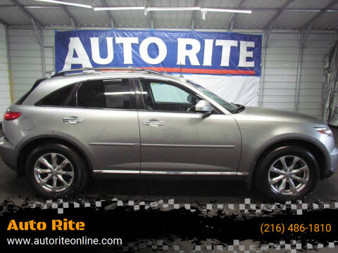2008 Infiniti FX35 for sale at Auto Rite in Bedford Heights OH