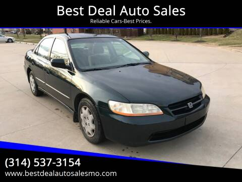 1999 Honda Accord for sale at Best Deal Auto Sales in Saint Charles MO
