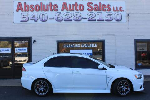 2014 Mitsubishi Lancer Evolution for sale at Absolute Auto Sales in Fredericksburg VA
