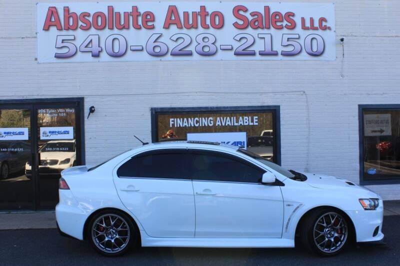 2014 Mitsubishi Lancer Evolution for sale at Absolute Auto Sales in Fredericksburg VA