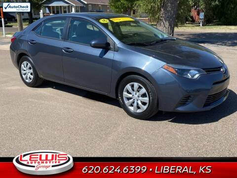 2016 Toyota Corolla for sale at Lewis Chevrolet Buick of Liberal in Liberal KS