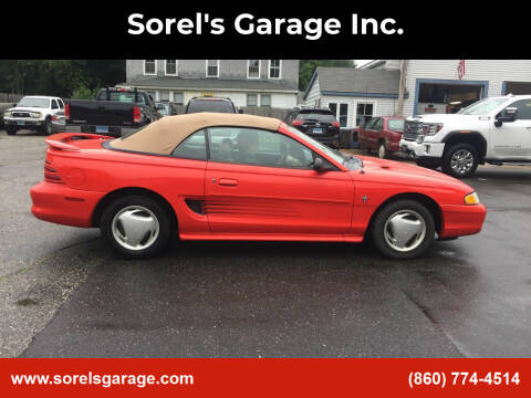 1995 Ford Mustang for sale at Sorel's Garage Inc. in Brooklyn CT